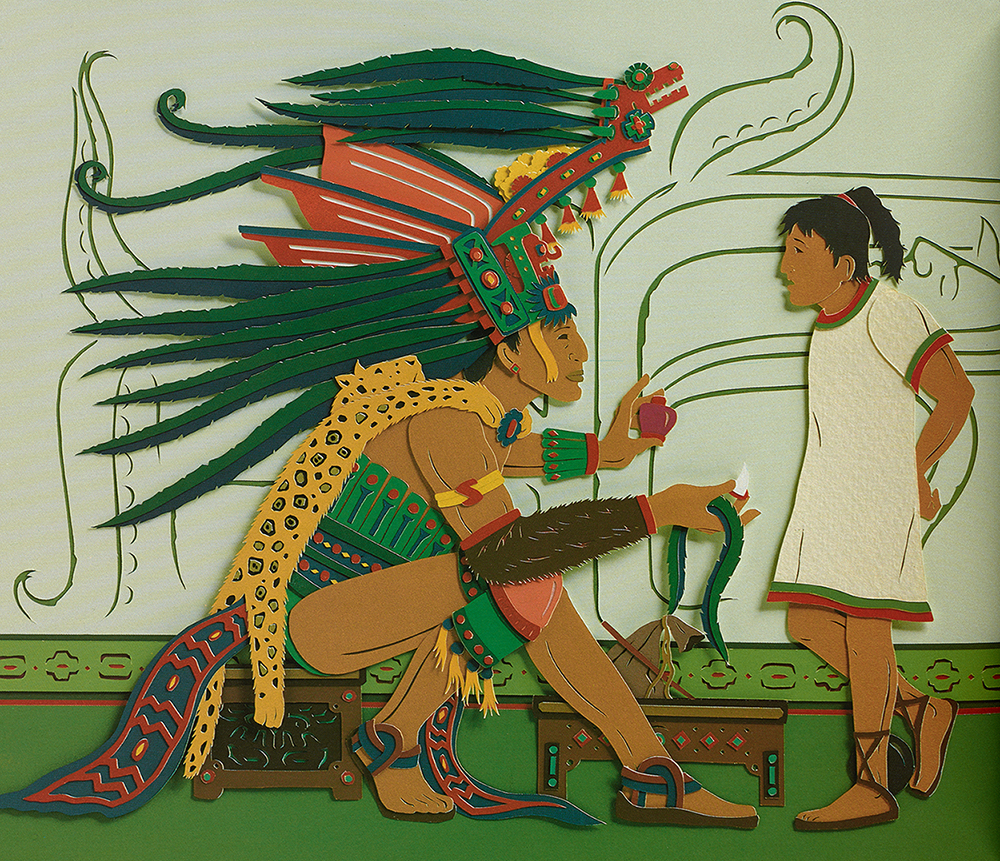 Illustration from one of the Native American children's books included in the Kretschmer collection